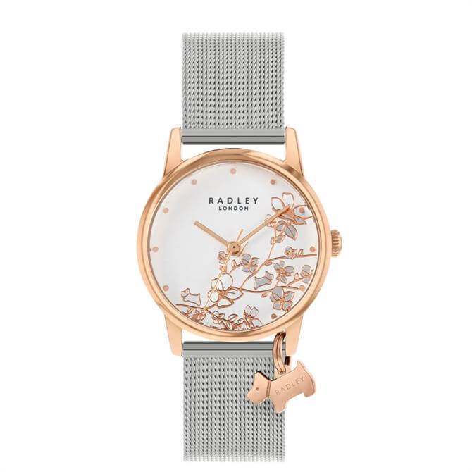 Radley Botanical Florals Rose Gold Ladies Mesh Watch