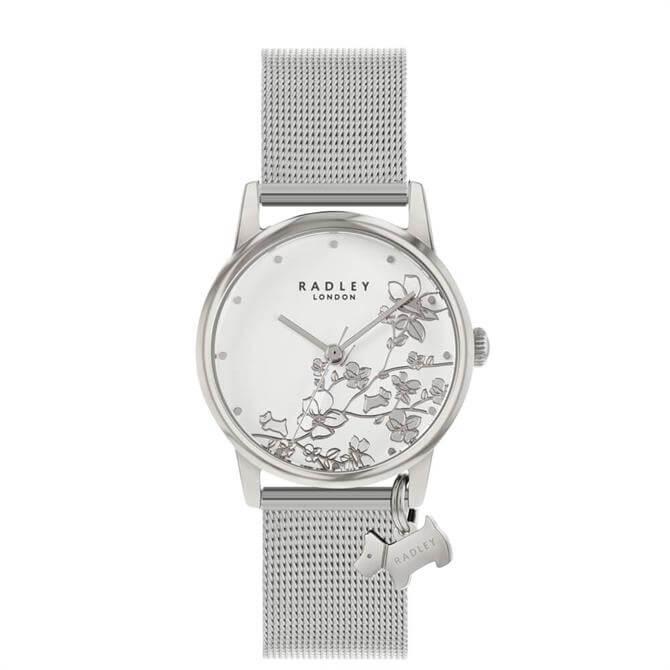 Radley Botanical Florals Silver Ladies Mesh Watch