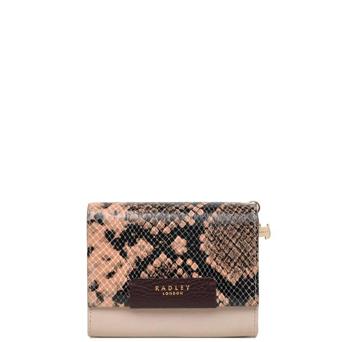 Radley Arlington Court Faux Snake Medium Flapover Purse