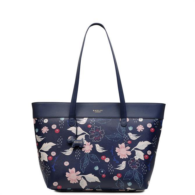 Radley Painterly Floral Large Zip Top Tote Bag