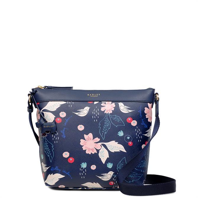Radley Painterly Floral Medium Zip Top Cross Body Bag