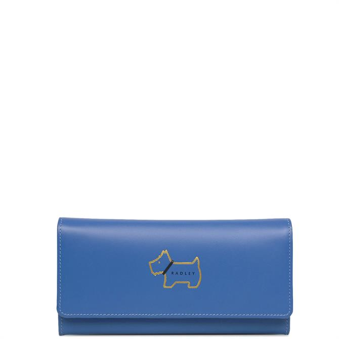 Radley Heritage Dog Outline Cobalt Large Matinee Purse