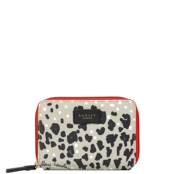 Radley Leopard Oilskin Medium Zip Around Purse