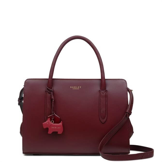 Radley Liverpool Street Merlot Medium Zip-Top Multiway Bag