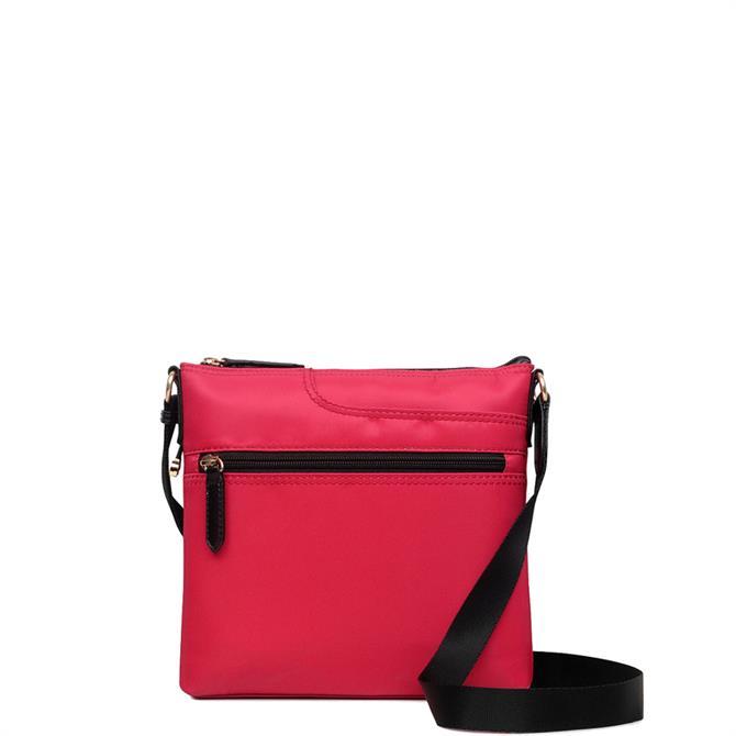 Radley Pocket Essentials Red Zip Top Cross Body Bag