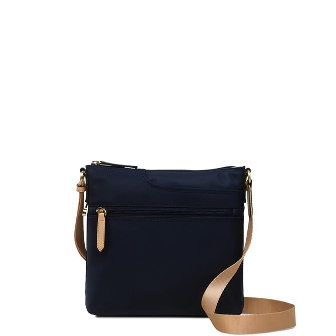 Radley Pocket Essentials Ink Blue Small Zip Top Cross Body Bag
