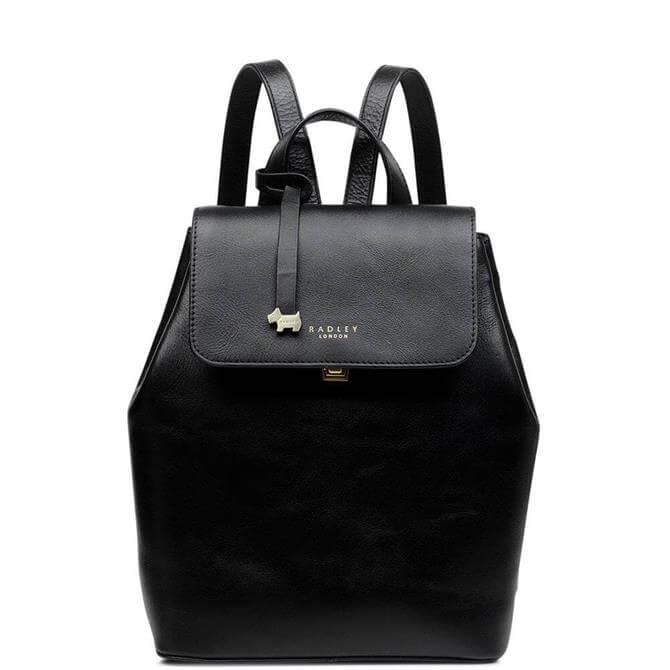 Radley Sandler Street Black Medium Flapover Backpack