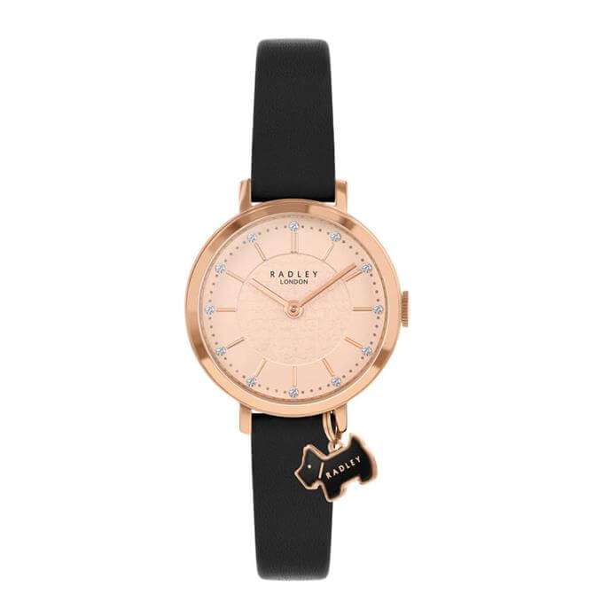 Radley Selby Street Rose Gold/Black Ladies Watch