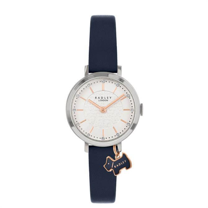 Radley Selby Street Silver/Dark Blue Ladies Watch
