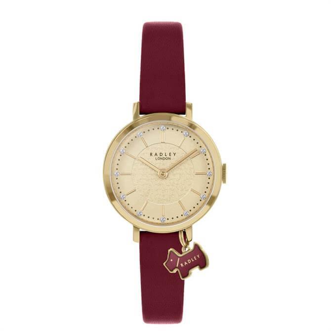 Radley Selby Street Pale Gold/Red Ladies Watch