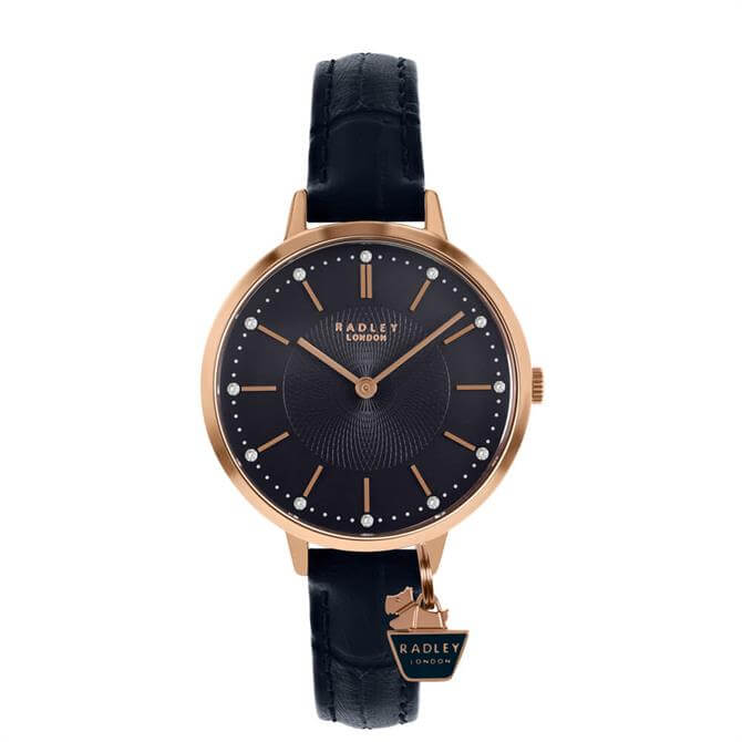 Radley St Duncan's Rose Gold/Dark Blue Ladies Watch