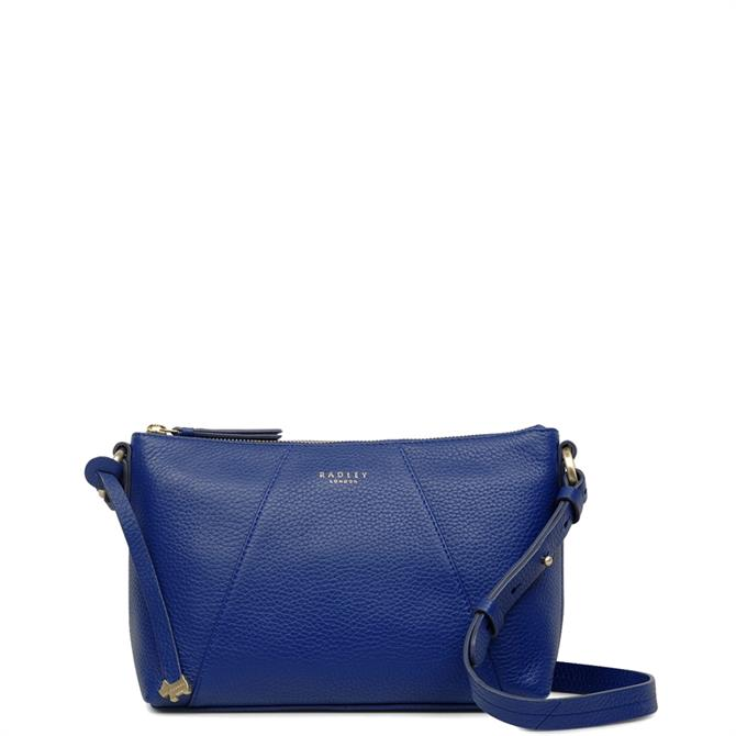 Radley Wood Street Sapphire Blue Medium Zip Top Cross Body Bag