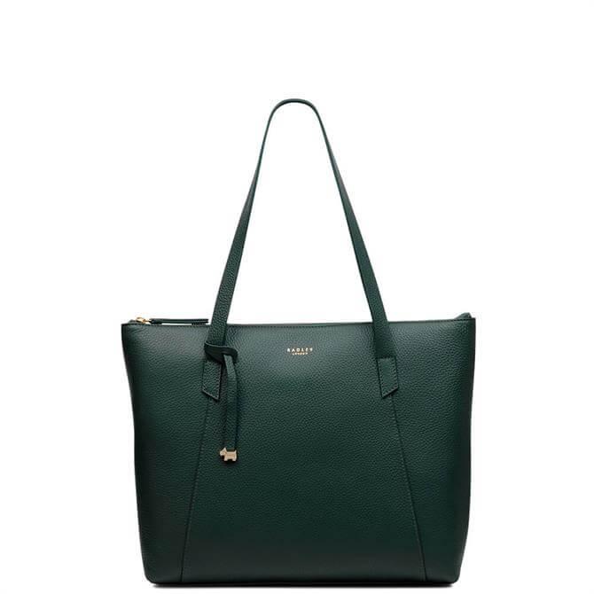Radley Wood Street Seaweed Large Zip Top Tote Bag