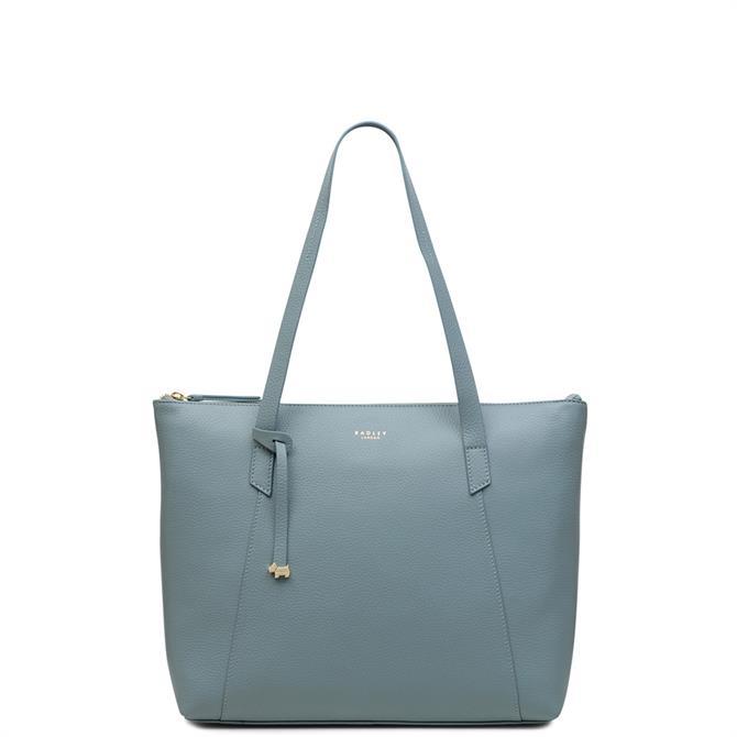 Radley Wood Street Lake Leather Large Zip Top Tote Bag