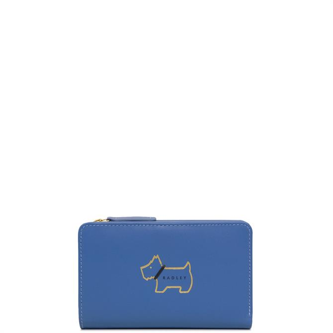 Radley Heritage Dog Outline Cobalt Medium Bifold Purse