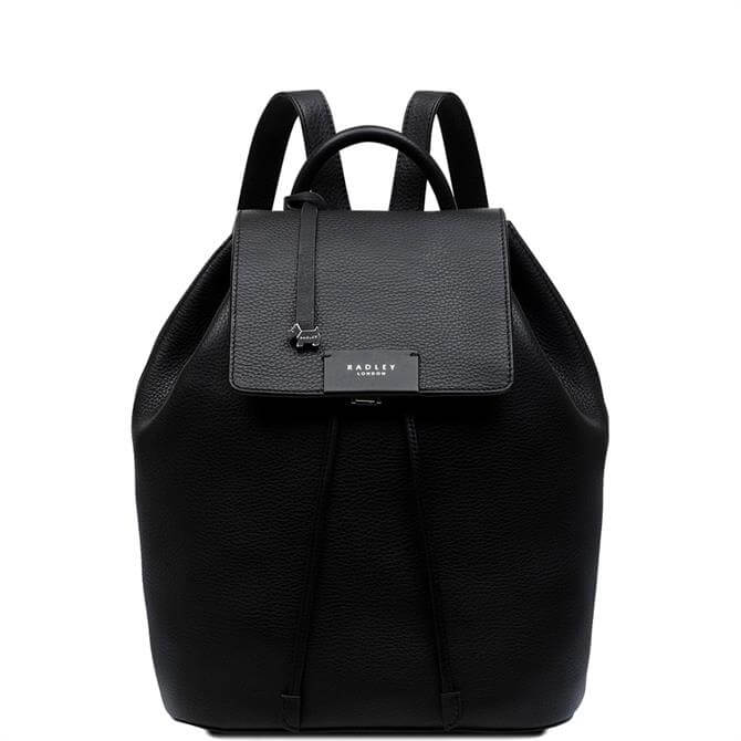 Radley London Ada Street Black Medium Flapover Backpack