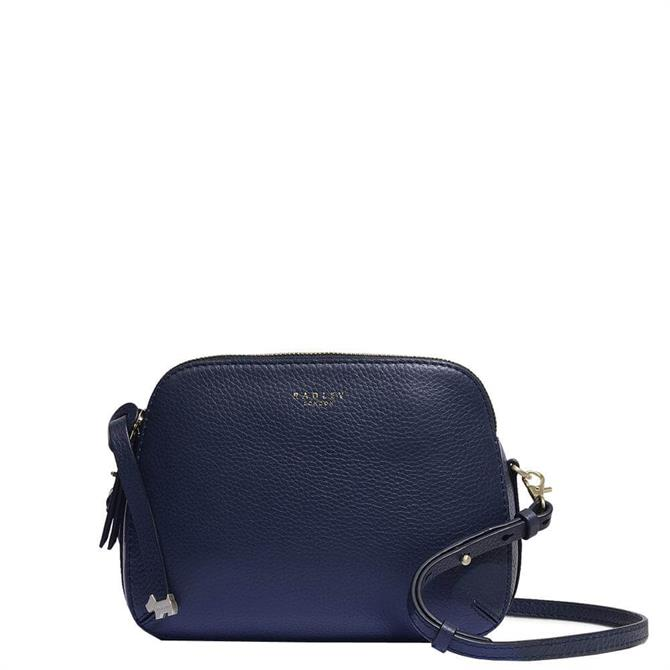 Radley London Dukes Place Ink Blue Medium Zip Top Cross Body Bag