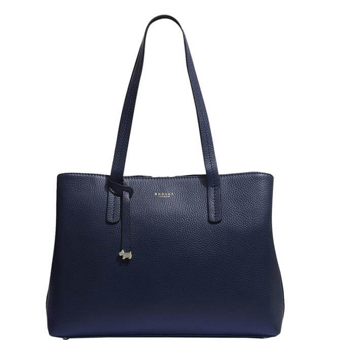 Radley London Dukes Place Ink Blue Large Open Top Work Bag