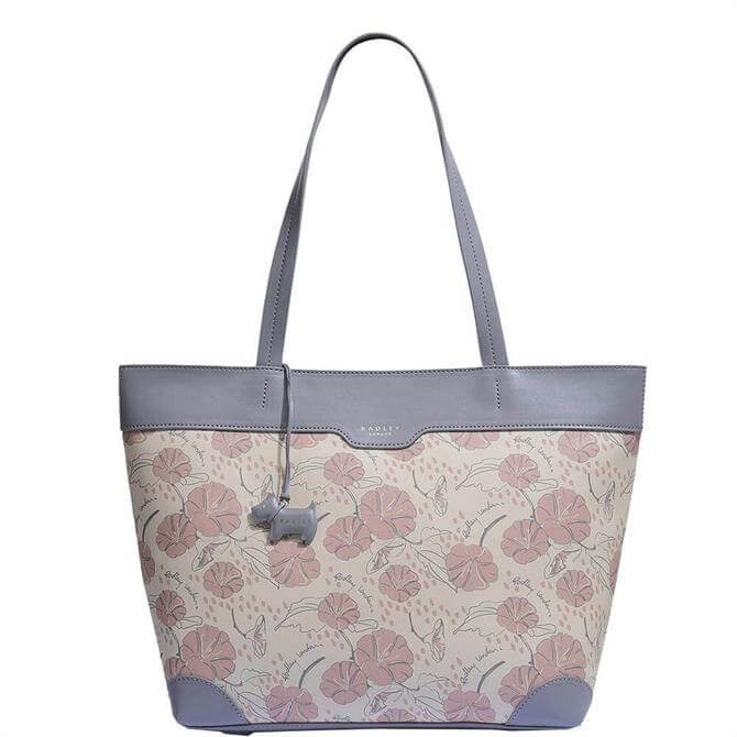 Radley London Moonflower Large Zip Top Shoulder Tote Bag