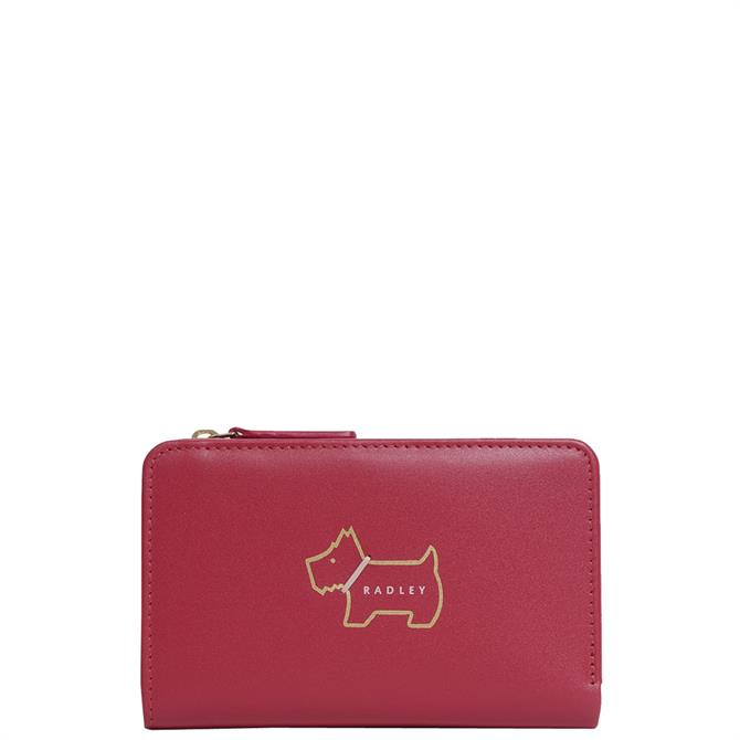 Radley London Red Heritage Dog Outline Medium Bilfold Purse
