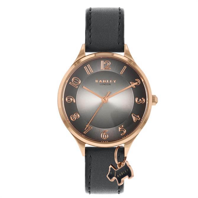 Radley London Saxon Road Ladies Grey Leather Strap Watch