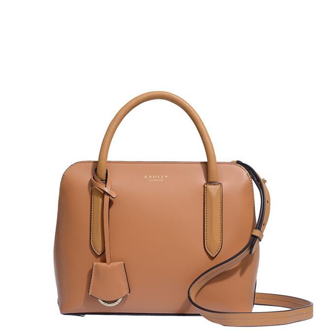 Radley London Liverpool Street 2.0 Brown Small Zip-Top Multiway Bag
