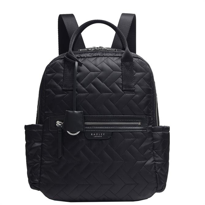 Radley London Finsbury Park - Quilt Black Medium Zip-Top Backpack