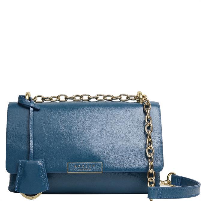 Radley London Mill Bay Blue Medium Flapover Cross Body Bag