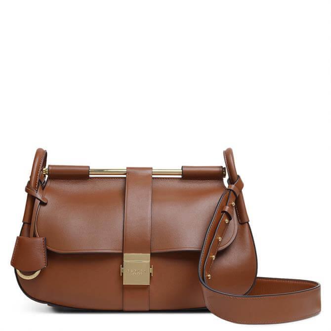Radley London Grosvenor Remastered Brown Medium Flapover Shoulder Bag