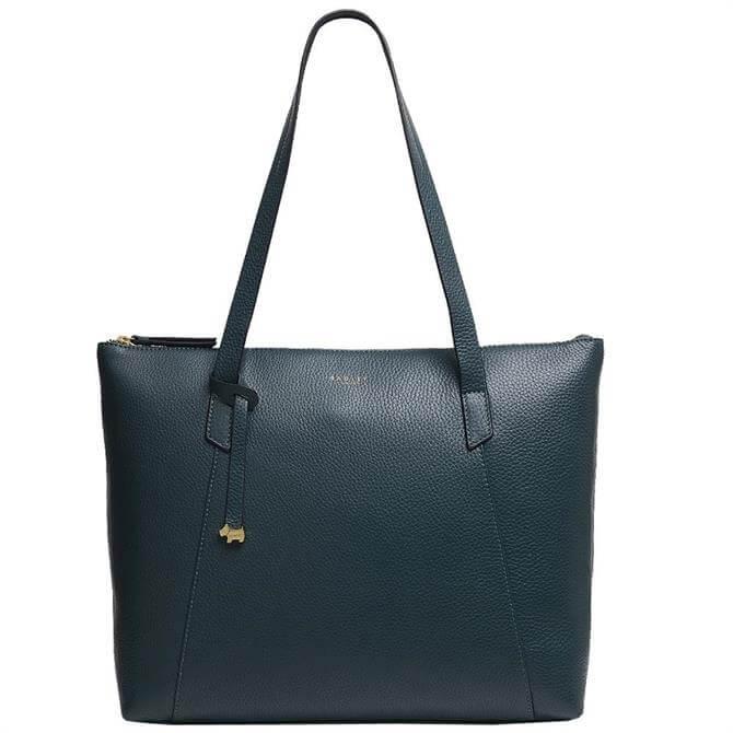 Radley London Wood Street Dark Green Large Zip Top Tote Bag