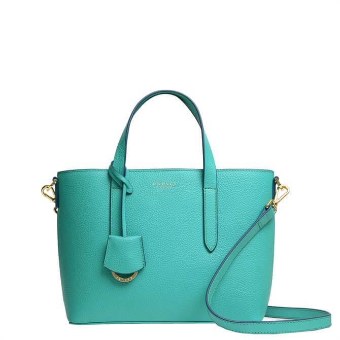 Radley London Silk Street Ocean Blue Small Open Top Multiway Bag