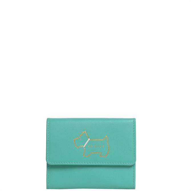 Radley London Heritage Dog Outline Ocean Small Trifold Purse