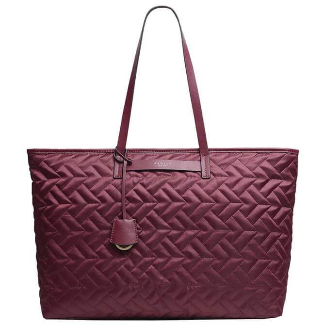 Radley London Finsbury Park – Quilt Merlot Large Zip-Top Shoulder Bag