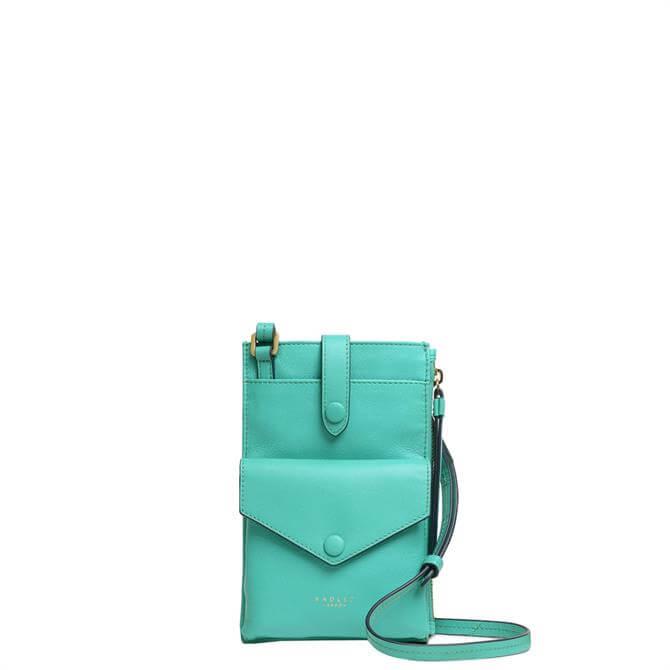 Radley London Wilton Way Ocean Blue Medium Phone Cross Body Bag
