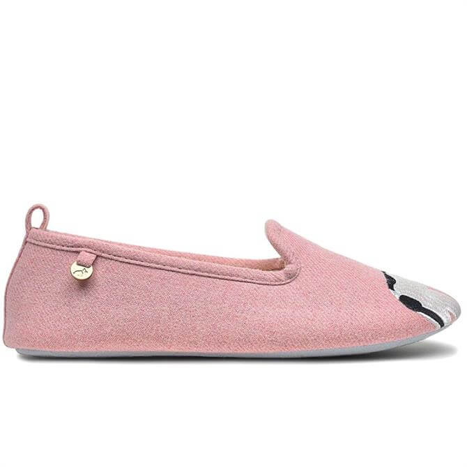 Radley London Jilly Embroidered Pink House Shoe