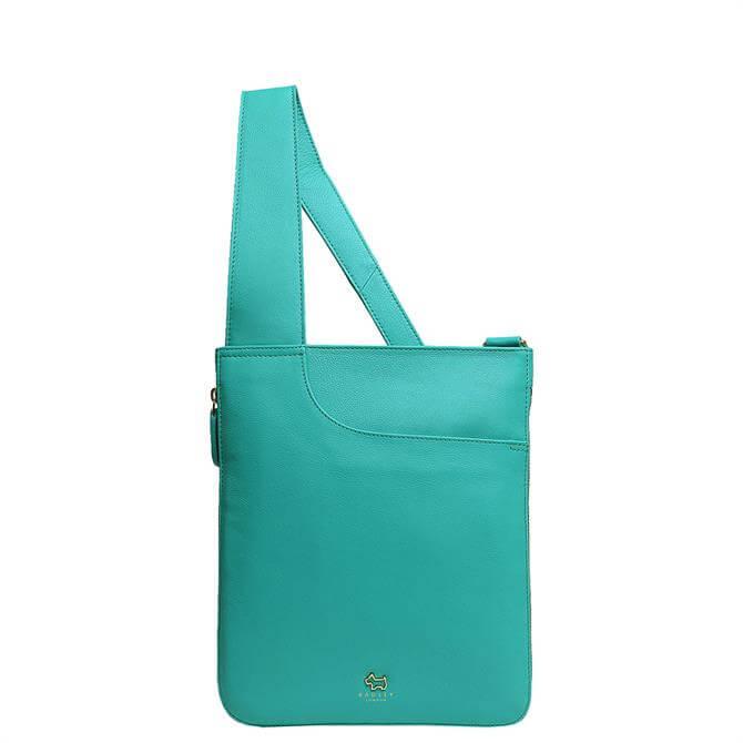 Radley London Pockets Ocean Blue Medium Zip Around Cross Body Bag