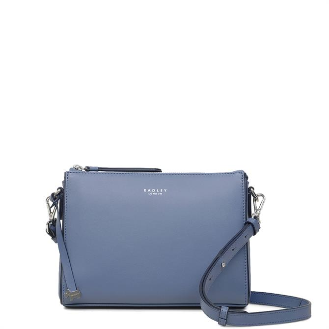 Radley Selby Street Denim Blue Small Zip Top Cross Body Bag