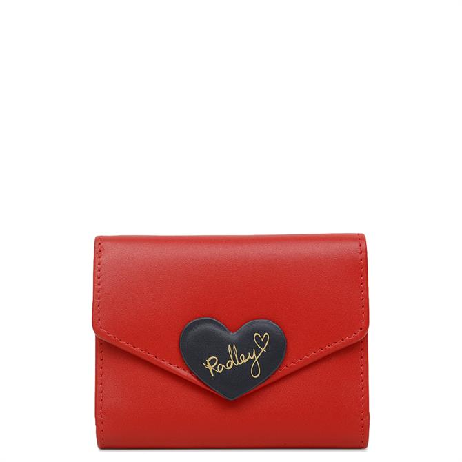Radley 'I Love You' Small Trifold Red Cardholder