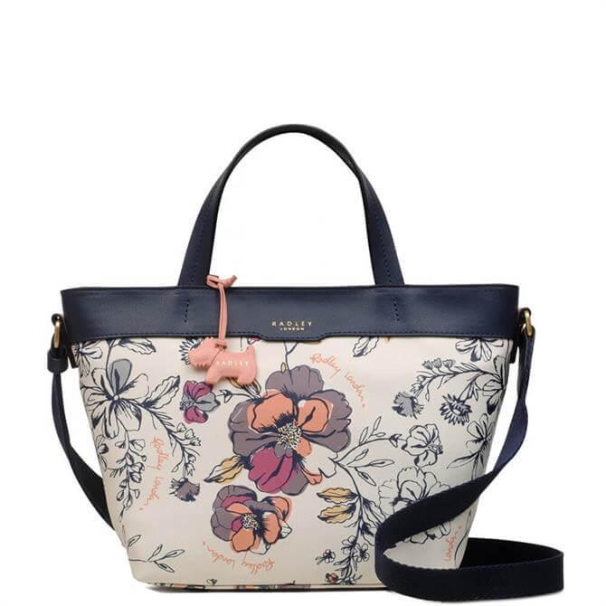 Radley Sketchy Floral Medium Zip Top Multiway Bag