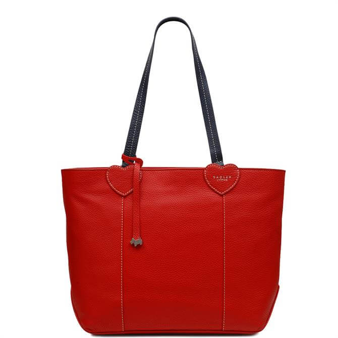 Radley 'I Love You' Red Large Zip Top Tote Bag