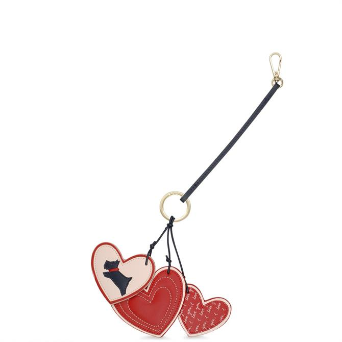 Radley 'I Love You' Leather Keyring