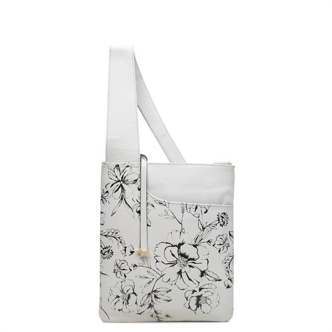 Radley Sketchbook Floral Pockets Medium Zip Top Cross Body Bag