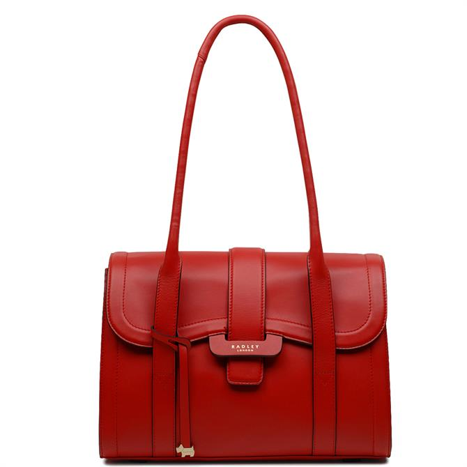 Radley Devenport Mews Red Medium Flapover Shoulder Bag
