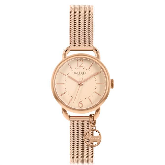 Radley Crest Rose Gold Stainless Steel Mesh Watch