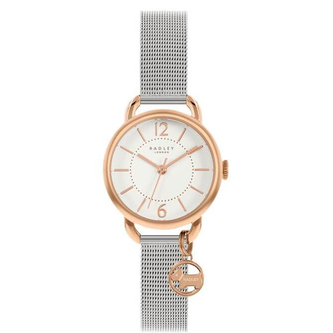 Radley Crest Silver Stainless Steel Mesh Watch