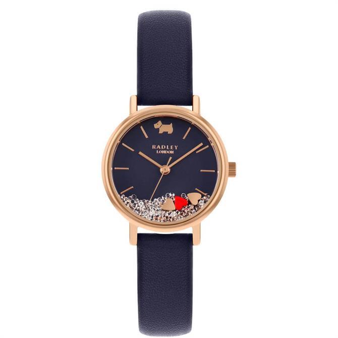 Radley Hello Love Navy Leather Watch
