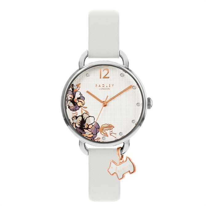 Radley Sketchbook Floral Grey Leather Watch