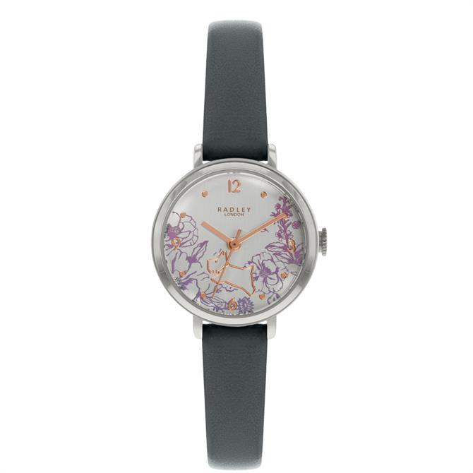 Radley Mini Sketchbook Floral Grey Leather Watch