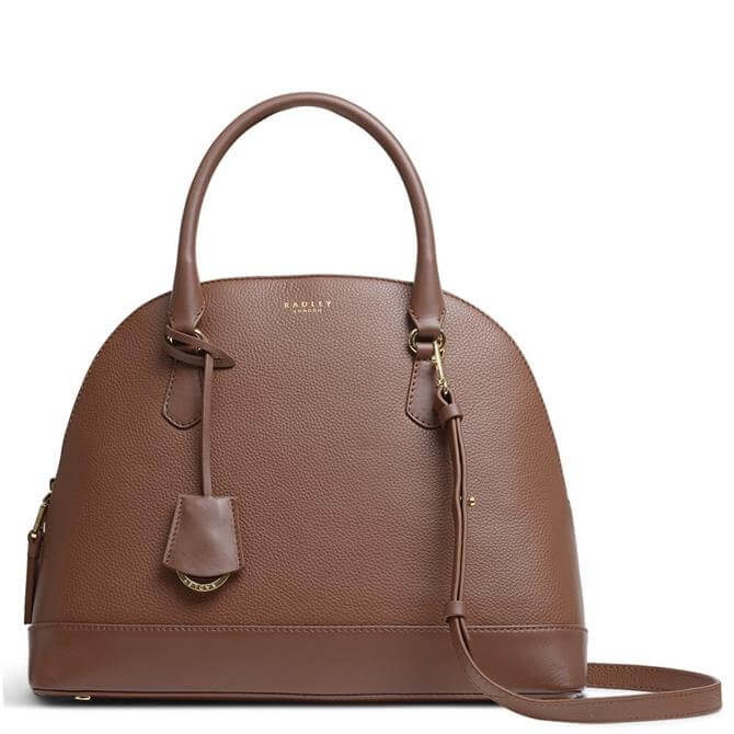 Radley London Anchor Mews Dark Brown Medium Dome Multiway Bag
