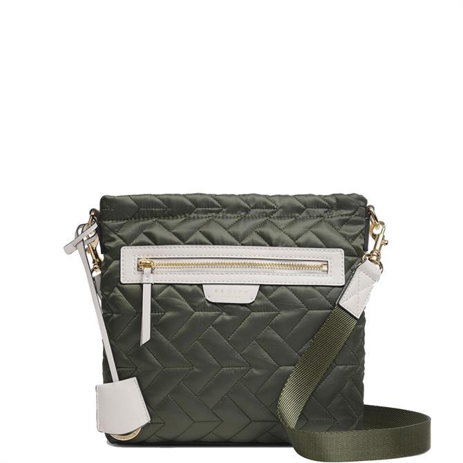 Radley London Finsbury Park Quilt Khaki Small Zip-Top Cross Body Bag